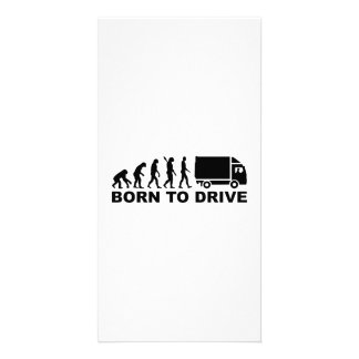 Evolution Truck born to drive Photo Card Template