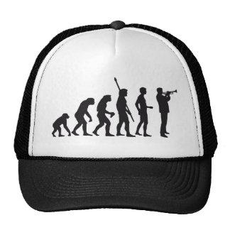 evolution trumpet more player trucker hats