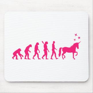 Evolution unicorn mouse pad