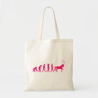 Evolution unicorn tote bag