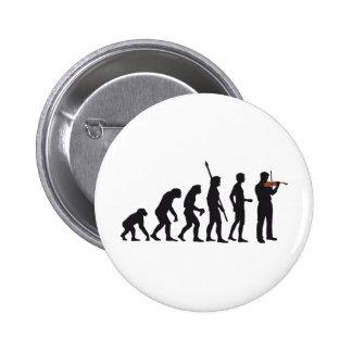 evolution violin 6 cm round badge