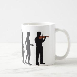 evolution violin basic white mug