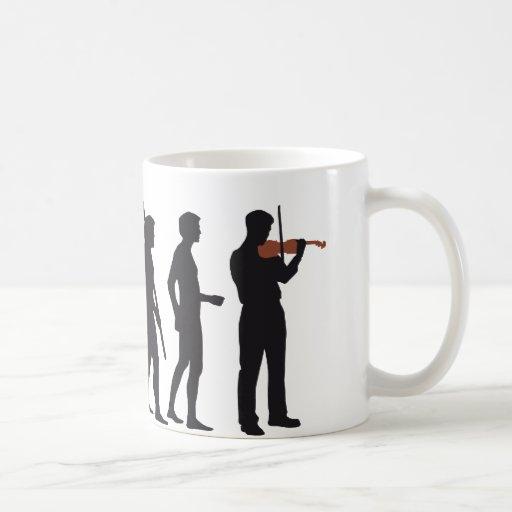evolution violin mugs