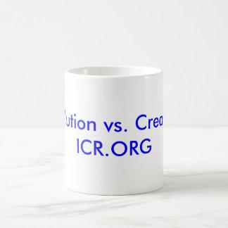 Evolution vs. Creation ICR.ORG Basic White Mug