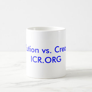 Evolution vs. Creation ICR.ORG Mugs