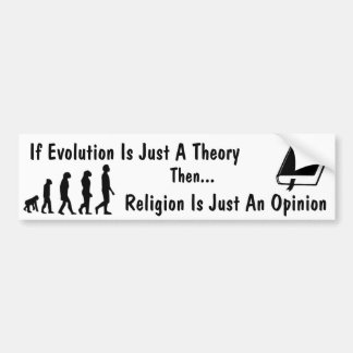 Evolution vs Religion Bumper Sticker