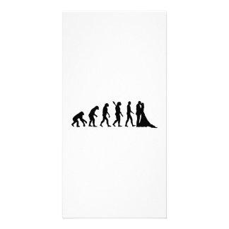 Evolution Wedding couple Photo Card Template