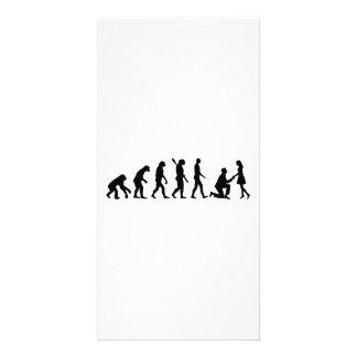 Evolution Wedding proposal Photo Card Template