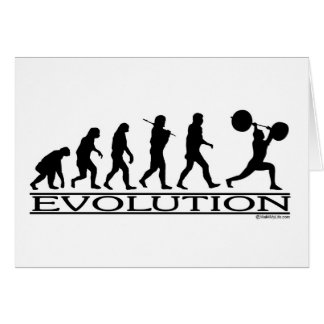 Evolution - Weight Lifter Greeting Card