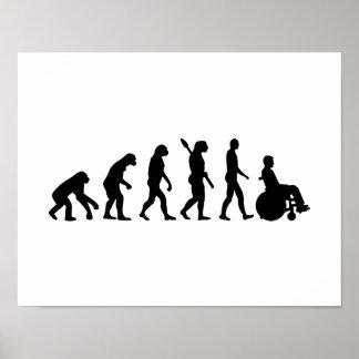 Evolution wheelchair handicaped poster
