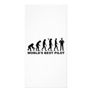 Evolution world s best Pilot Photo Card Template