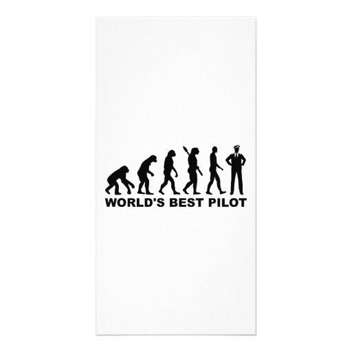 Evolution world's best Pilot Photo Card Template