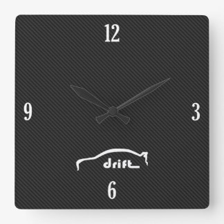 Evolution X Drift Brushstroke Logo Square Wall Clock