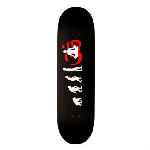 Evolution Yoga Buddhist Meditation Custom Skateboard