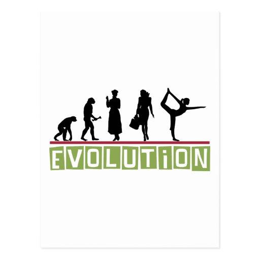Evolution Yoga Gift Postcard