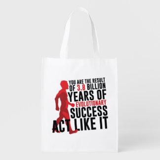 Evolutionary Success Reusable Grocery Bag