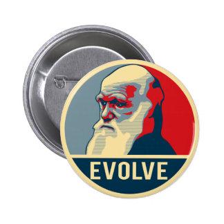 Evolve 6 Cm Round Badge