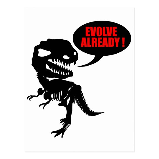 Evolve already postcard