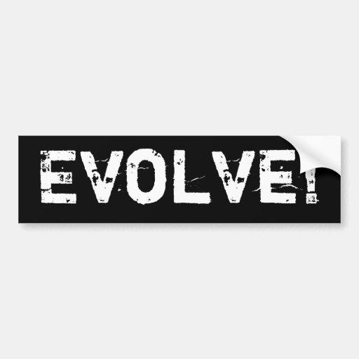 Evolve Bumper Stickers