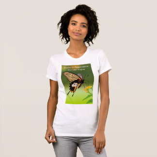EVOLVE TO NONVIOLENCE. BECOME VEGAN. T-Shirt