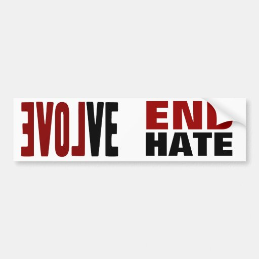 Evolve with LOVE Bumper Sticker