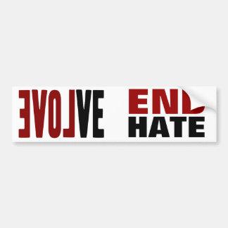 Evolve with LOVE Car Bumper Sticker