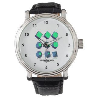 Evolving Cube Inside (Math & Geometry) Wrist Watch