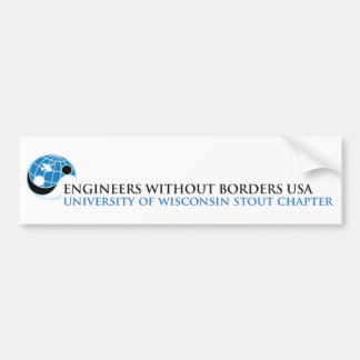 EWB-USA University of Wisconsin Stout Chapter Bumper Sticker