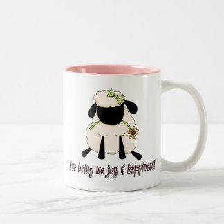 Ewe Bring Me Joy and Happiness Two-Tone Coffee Mug