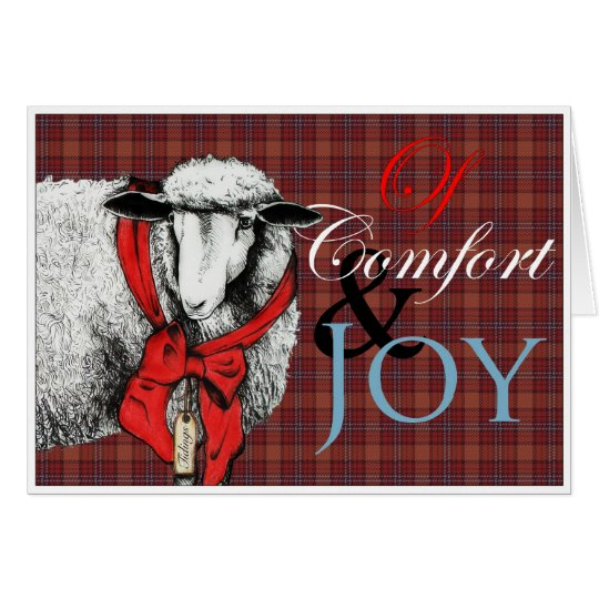 """Ewe"" Tidings of Comfort and Joy Card"