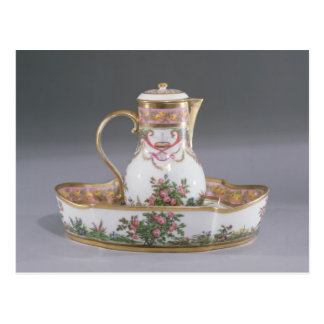Ewer and basin, made in Paris Postcard