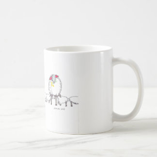 Ewes and lambs in spring coffee mug