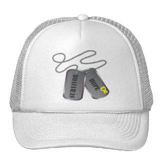 Ewing Sarcoma Survivor Dog Tags Hats