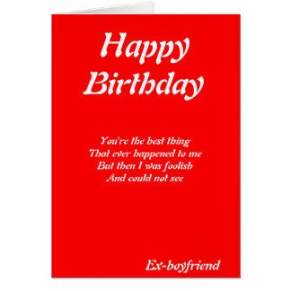 Ex-boyfriend birthday cards