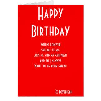 Ex-boyfriend still friends birthday cards