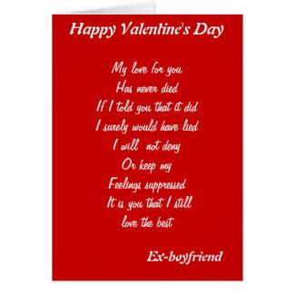 Ex-boyfriend valentine's day cards