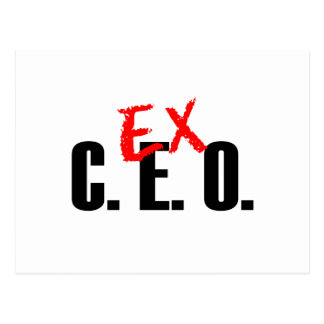 EX CEO LIGHT POSTCARD