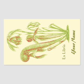 Ex Libris Floral Book Plate Stickers