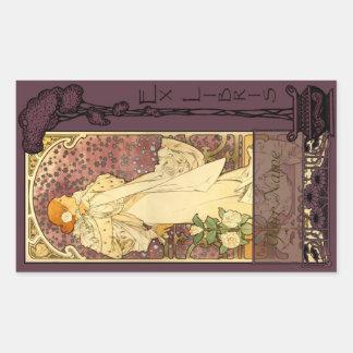 Ex Libris - Sarah Bernhardt Book Plate 2 Rectangle Sticker