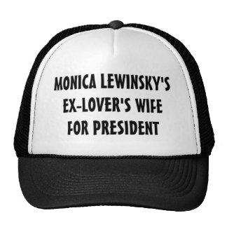 Ex-Lover's Wife for President Hat (black)