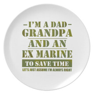 Ex Marine Party Plate