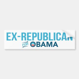 Ex-Republican For Barack Obama Bumper Sticker