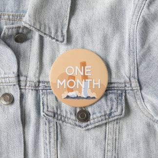 ex smoker one month quit smoking 7.5 cm round badge