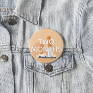 ex smoker two months quit smoking 7.5 cm round badge