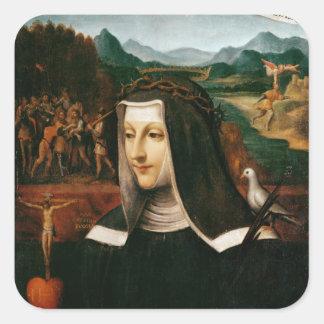 Ex Voto dedicated to St. Catherine of Siena Square Sticker
