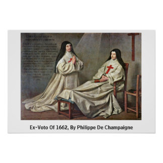 Ex-Voto Of 1662, By Philippe De Champaigne Poster
