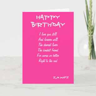 Ex Wife Birthday Cards