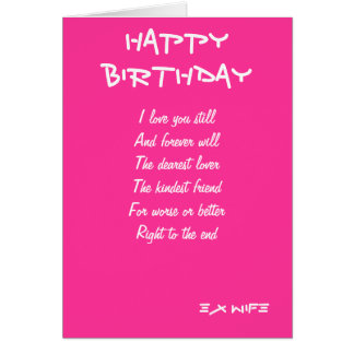 Ex-wife birthday cards