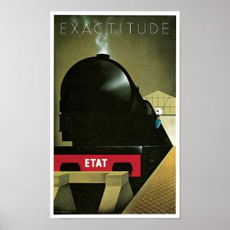 Exactitude Railway Poster