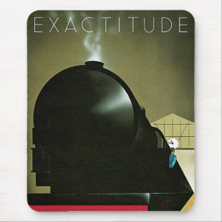 Exactitude Railway Poster Mouse Pad